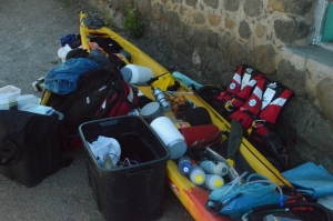 Packing the Kayak for Leg 1