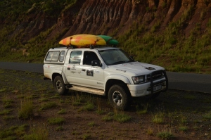 The Steed of Greatness.  The Hilux 3L kZTE that saw us safelt, and without major incident, Across Lesotho.