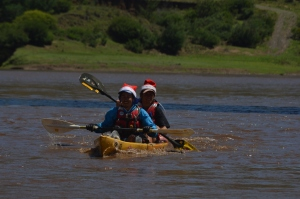 Jurie and Devon at the end of their 530 km Senqu expedition